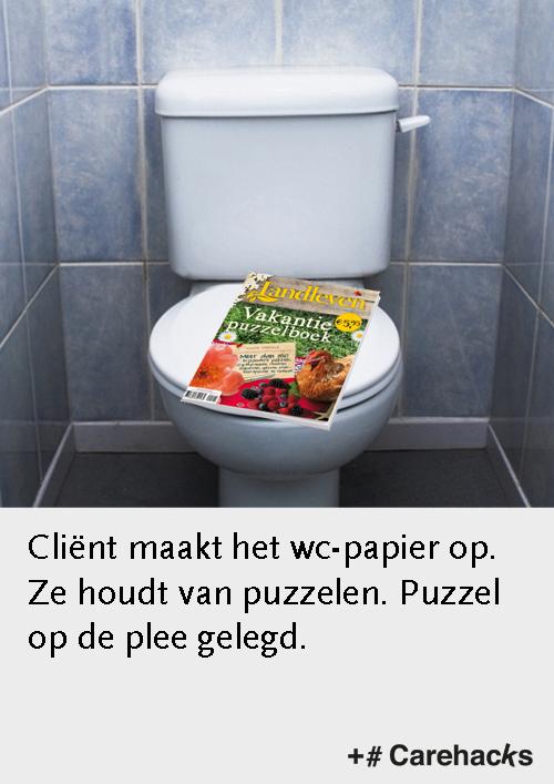 wc puzzel voor cliënt